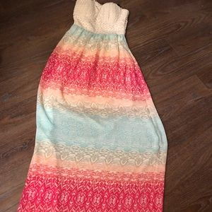 Multi colored maxi dress!